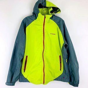 Columbia Omni Heat Waterproof Insulated Zip Up Light Weight Hooded Jacket 1X
